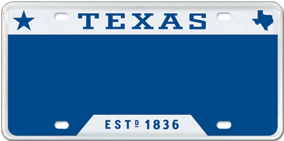 T for Texas - Blue