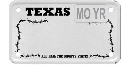 Texas Barbed Wire - White